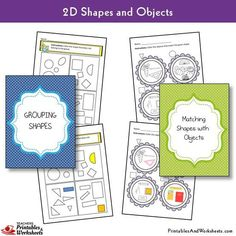 2D Shapes Worksheets - Printables & Worksheets 1st Grade Math Worksheets, Shapes Worksheets, Printable Worksheets, Printables, Geometric Shapes Drawing, 2d And 3d Shapes, First Grade Projects, Shape Matching, Objects