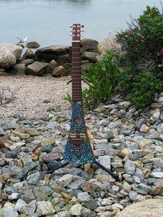 Mosaic Martin Backpacker Guitar  - Dragonfly Melody $450