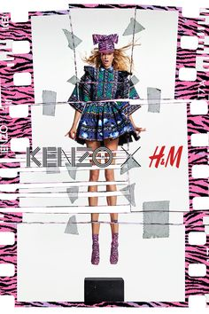The long-awaited KENZO X H&M collection will hit selected stores and hm.com tomorrow. It's time to express yourself vividly and freely. | KENZOxHM