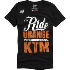 Fox Racing Women's KTM Ride Orange T-Shirt