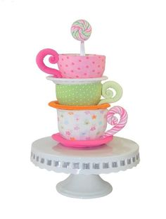 Teacup diaper cake ... by Topsy Turvy | Other Pattern - Looking for your next project? You're going to love Teacup diaper cake pattern and video by designer Topsy Turvy. - via @Craftsy