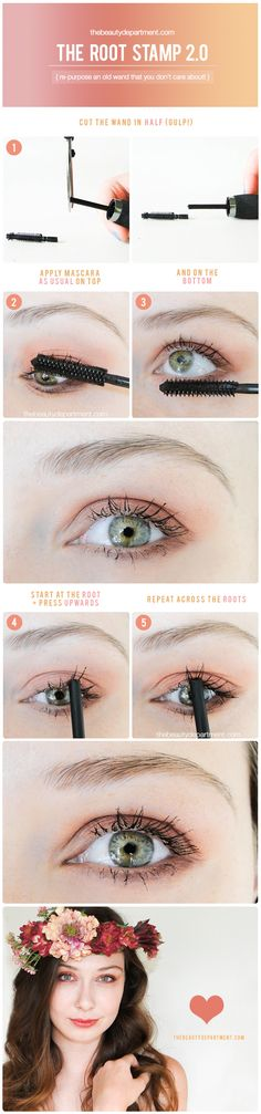If your lashes are sparse, try this with an old wand!
