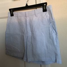 American Apparel Striped Shorts American Apparel Unisex Cotton Seersucker Kennedy Short in the white & blue (size 26). Never worn. Pockets on the front and back. I'm open to trades and negotiating prices. American Apparel Shorts