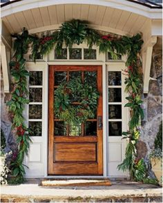 Elegant holiday entrance