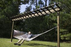 Build Your Own Hammock Stand DIY PROJECT -  Homesteading  - The Homestead Survival .Com