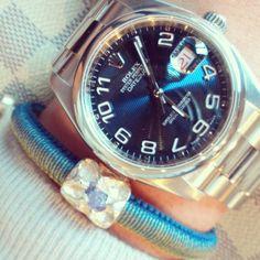 URU two toned Bracelet with Rolex Omega Watch, Rolex Watches, Things To Come, Unisex, Explore, Bracelets, Accessories, Bangle Bracelets, Bracelet