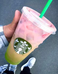 Ask for matcha and coconut milk topped with a Pink Drink. Photo credit: Instagram