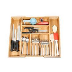 Bamboo Expandable Cutlery Organizer