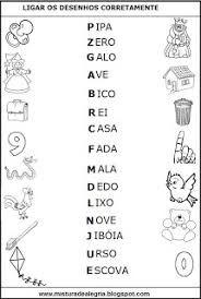 Resultado de imagem para atividades de alfabetizaçao leitura e escrita