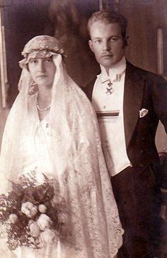 Mariage le 14 novembre 1922 de la princesse Elisabeth de Luxembourg et de Nassau (1901-1950) avec le prince Ludwig Philipp von Thurn und Taxis (1901-1933)