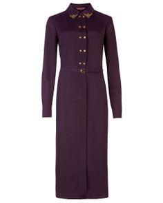 Ted Baker - Purple Emeela Embellished Collar Dress