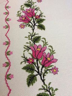 This Pin was discovered by Ünz Cross Stitch Horse, Cross Stitch Art, Cross Stitch Borders, Cross Stitch Flowers, Cross Stitch Designs, Cross Stitching, Cross Stitch Patterns, Palestinian Embroidery, Crochet Bedspread