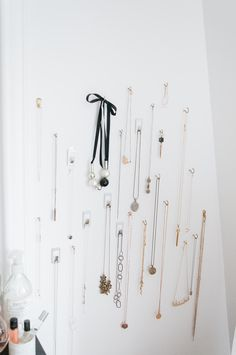 wall hooks for necklaces, jewelry