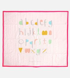 Alphabet Baby Quilt | Meant for long naps and the coziest of adventures, this handma... | Quilts & Quilt Sets