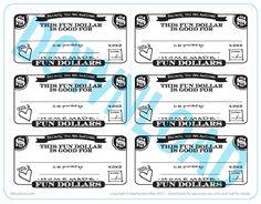 Fun Dollar Coupons | A Free Printable | Lil Blue Boo @Stephanie Corfee Artwork!