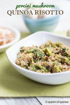 {Porcini Mushroom Quinoa Risotto} recipe on simplyquinoa.com