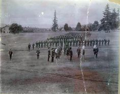 From the Fort Vancouver National Historic Site. An old pic of the Vancouver Barracks at Fort Vancouver in 1896
