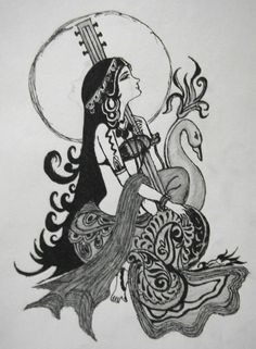 Saraswati - Hindu Goddess of knowledge.