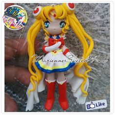 Super Sailor Moon Pendant handmade polymer clay