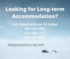 SleepSolutions-SA.com is your one stop solution when it comes to long term stay right across Southern Africa. Our Establishments offer you long-term accommodation.(Calendar Month to Month or Week to Week) at special rates. We offer you a range of self-catering units for your convenience if you need to go on longer business trips. For more information visit our website. Business Travel, Catering, Trips, Calendar, Southern, Self, Africa, Things To Come, Range