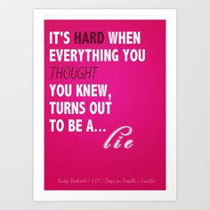 Castle (TV Show) Quotes | Kate Beckett Art Print by Sandi Panda - $15.00