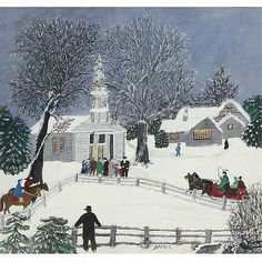 Anna Mary Robertson (Grandma) Moses 1860-1961 , We Are Coming to Church