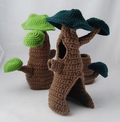 crochet hollow trees  inspiration only--dead link