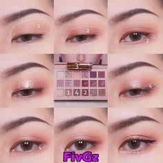 Pin by Maliko on Makeup Soft Eye Makeup, Korean Eye Makeup, Eye Makeup Steps, Eye Makeup Art, Smokey Eye Makeup, Eyeshadow Makeup, Makeup Eyes, Korean Makeup Ulzzang, Asian Makeup Tips