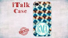 iPhone 4 iPhone 4S Monogram Personalized iPhone case by iTalkCase, $14.99