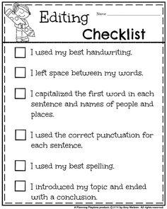 Writing editing checklist first grade writing prompts, writing workshop, te First Grade Writing Prompts, Narrative Writing, Opinion Writing, Editing Writing, Writing Lessons, Writing Workshop, Teaching Writing, Writing Activities, Paragraph Writing