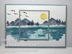Stamp-A-Stacks this week... Make this lovely Waterfront Landscape card!