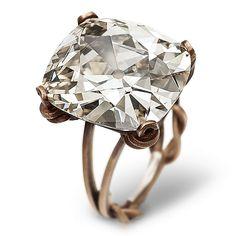 Hemmerle ring: diamond, white gold and bronze.  Via Jewels du Jour from Hemmerle.