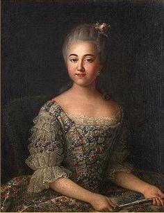 Portrait of Varvara Sheremetev, later Countess Razumovsky by Ivan Argunov 1727-1824