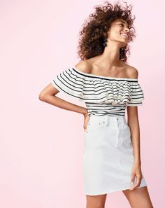 The top that looks great on everyone. No, seriously. We asked members of our J.Crew team ranging from a size XS to XL to try is and guess what? Rave reviews from every last one.
