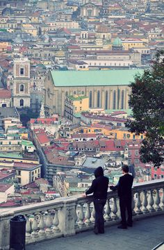 a different view of Napoli, Italy at  square San Martino