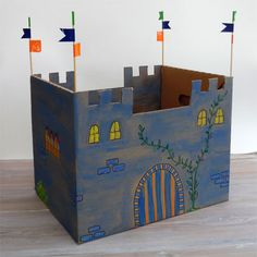 Cardboard Crafts Kids, Recycle Cardboard Box, Chateau Medieval, Medieval Castle, Drama For Kids, Art For Kids, Projects For Kids, Crafts For Kids, Arts And Crafts