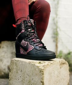 Black Bourton Liberty print Dunk Sky Hi sneakerboots from the Nike X Liberty collection £180 #SNEAKERBOOTS
