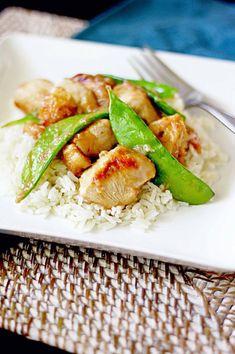 Rhubarb Chicken on Coconut Rice