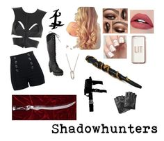 """""""Jace Herondale~The Female Version"""" by taylor-008 ❤ liked on Polyvore featuring Fleet Ilya, Generation Y, Missguided, Monica Rich Kosann, Stele and Karl Lagerfeld"""