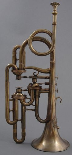 Cornopean (Köhler, London, ca. 1843, with disc valves)