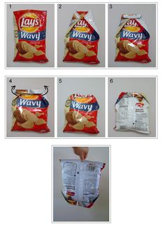 How to fold a chip bag. That's it, my chip clip days are over.