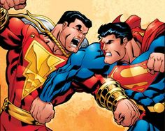 Pre-New 52 era Shazam, known as Captain Marvel vs. Marvel Man, Captain Marvel Shazam, Original Captain Marvel, Marvel Comics, Marvel Cartoons, Dc Comics Heroes, Man Thing Marvel, Marvel Heroes, Fotos Do Superman