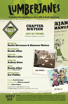 Preview: Lumberjanes #16,   Lumberjanes #16 Story: Noelle Stevenson & Shannon Watters Art: Brooke Allen Covers: Brooke Allen & Kat Philbin Publisher: BOOM! Studio...,  #All-Comic #All-ComicPreviews #BOOM!Box #Boom!Studios #BrookeAllen #Comics #Lumberjanes #NoelleStevenson #Previews #ShannonWatters