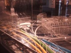 """Model of subterranean King's Cross: """"Crossrail, the Channel Tunnel rail link, basement developments – underground London is growing as fast as the surface city. Underground Cities, London Underground, The Channel Tunnel, Rail Link, Display Lighting, Geotechnical Engineering, London City Airport, Basement, Transportation"""