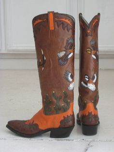 Boots by renowned Texas bootmaker David Wheeler
