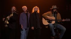 """this was pretty awesome. Old men singing Fancy #NaledIt Neil Young Sings """"Fancy"""" with Crosby, Stills & Nash"""