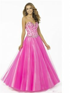 Gorgeous A-line Strapless Empire Beading Prom Dress 2014 New Style Cheap Dresses Online, Affordable Prom Dresses, Prom Dresses For Sale, Plus Size Prom Dresses, Cheap Bridesmaid Dresses, Quinceanera Dresses, Strapless Prom Dresses, Prom Dress 2014, Pink