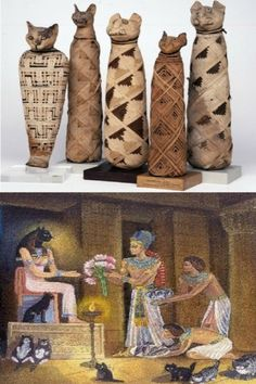 Cats In Ancient Egypt, Ancient Art, Egyptian Decorations, Daydream, Cats And Kittens, Room, Bonjour, Cats, Kunst