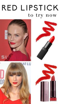 Different shades of red lipstick to try now.  #redlips