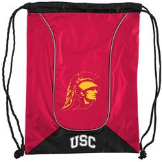 The Northwest Company USC Trojans Double-Header Drawstring Backpack ($12) ❤ liked on Polyvore featuring bags, backpacks, day pack backpack, drawstring backpacks, daypack bag, drawstring rucksack and rucksack bags
